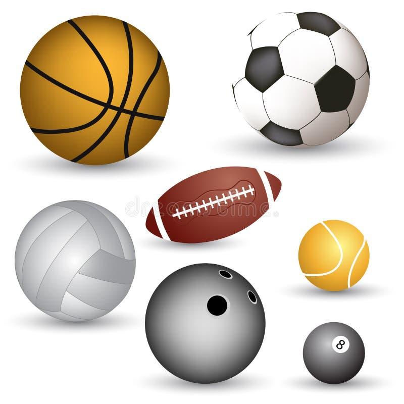 Vector balls royalty free stock image