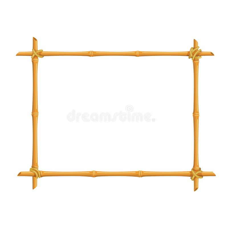 Bamboo signboard frame vector illustration