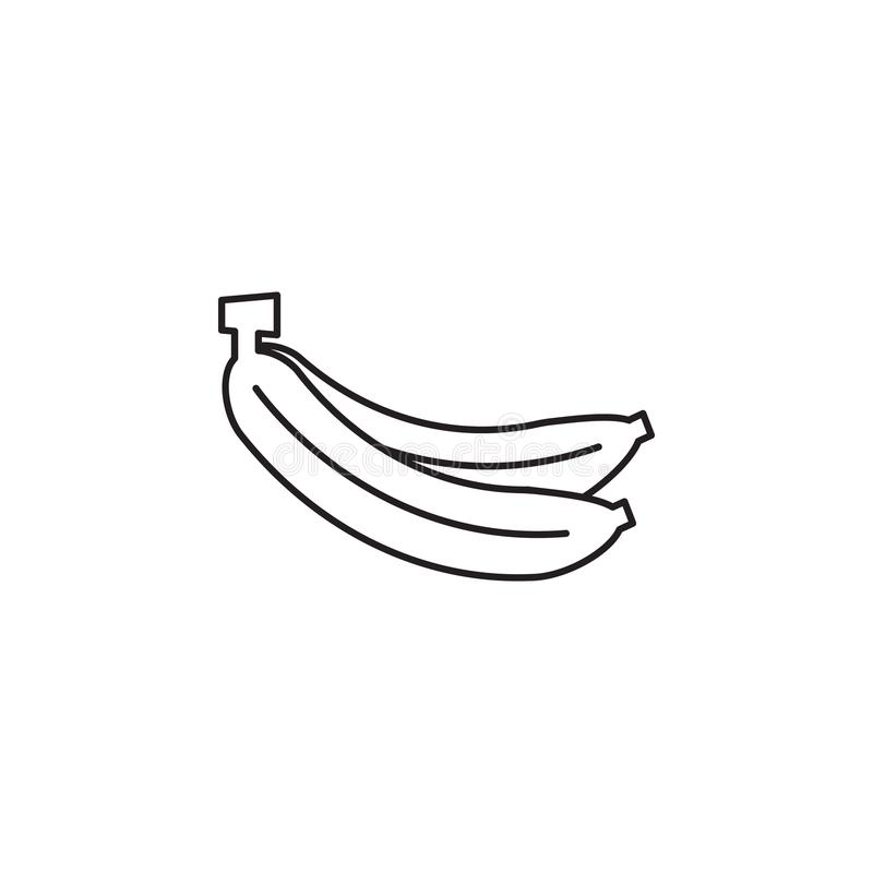 Vector Banana icon. Farm fruit element. Premium quality graphic design. Signs, outline symbols collection, simple thin line icon f royalty free illustration