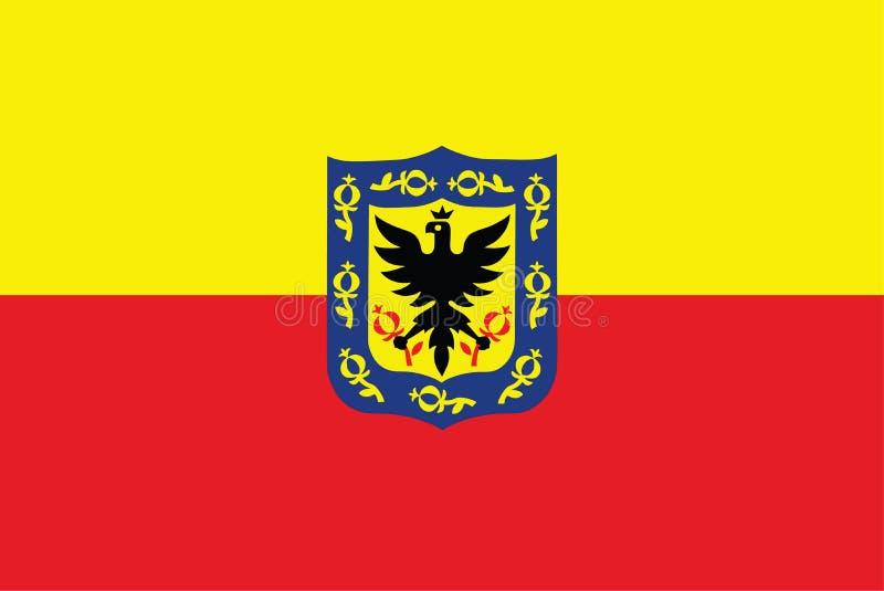 Vector a bandeira de Bogotá, cidade de Colômbia ilustração royalty free