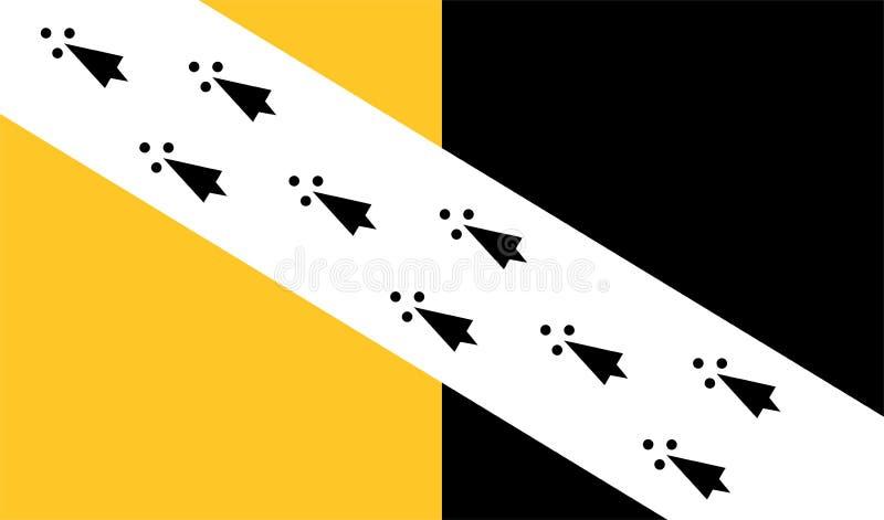 Vector a bandeira de Norfolk, ao leste de Inglaterra, Reino Unido ilustração do vetor