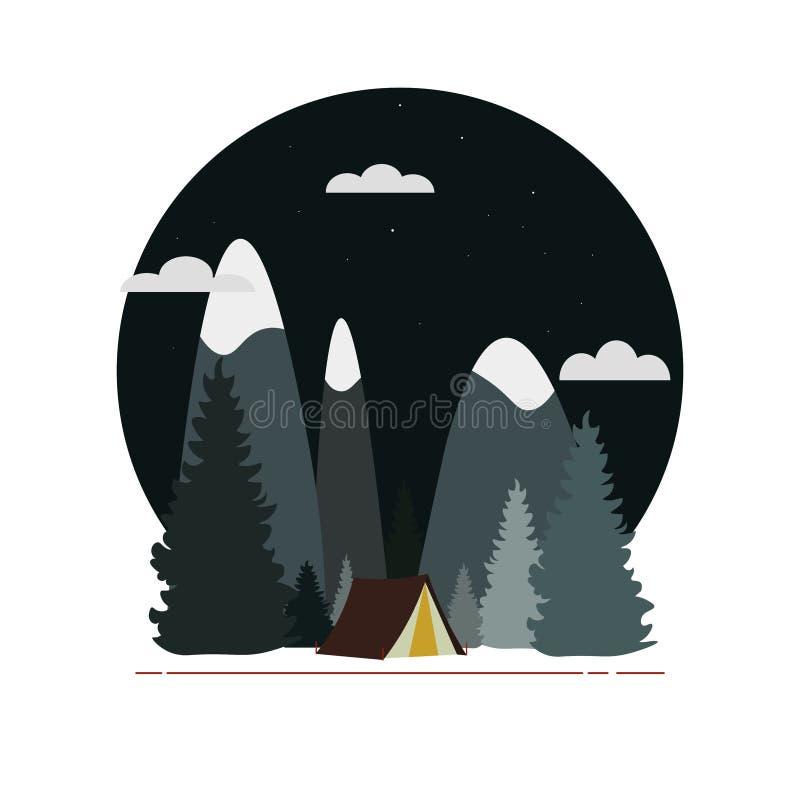 Vector a bandeira lisa da Web no tema da aventura imagens de stock