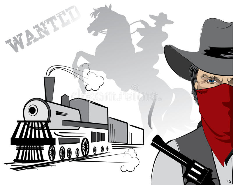 Download Vector Bandit In Mask.Cowboy Stock Images - Image: 12748764