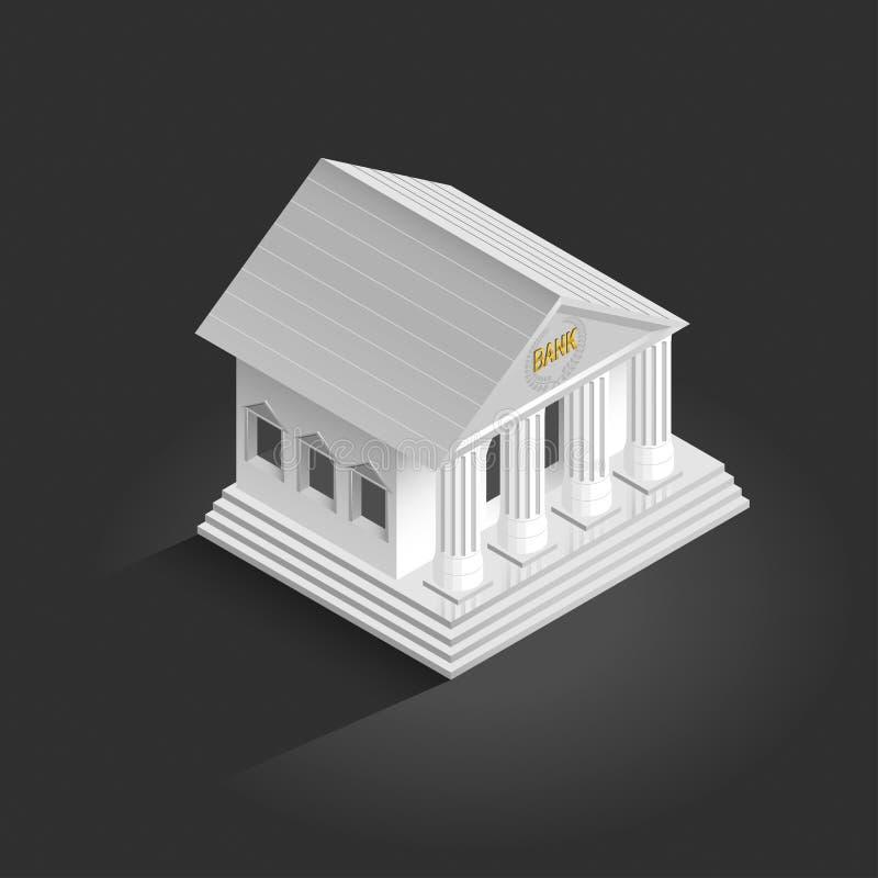 Vector bank icon on a dark stock illustration