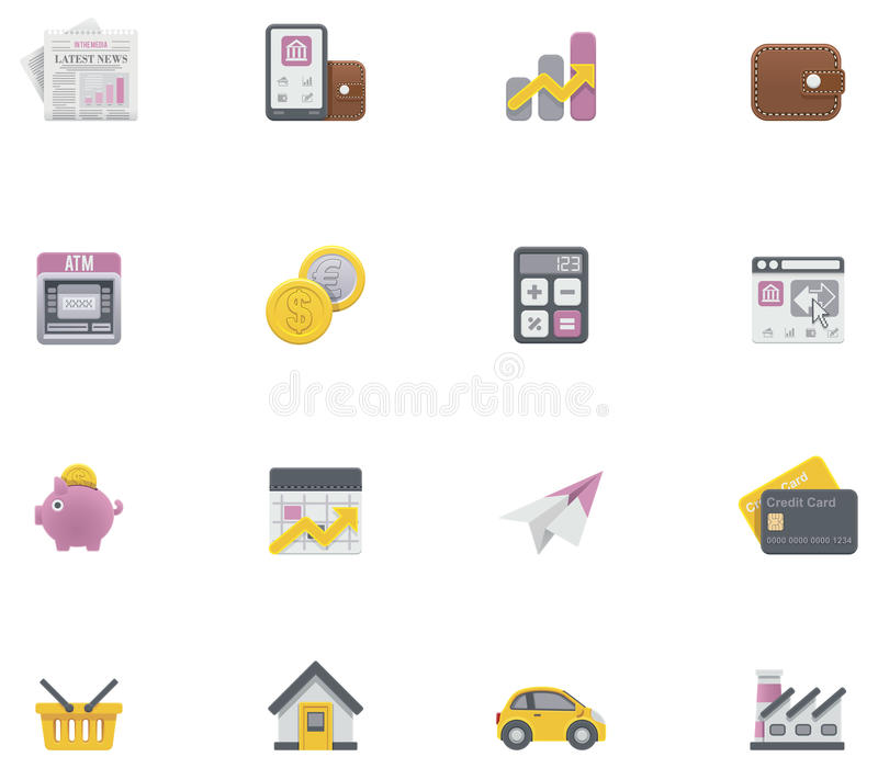 Vector banking icons royalty free illustration