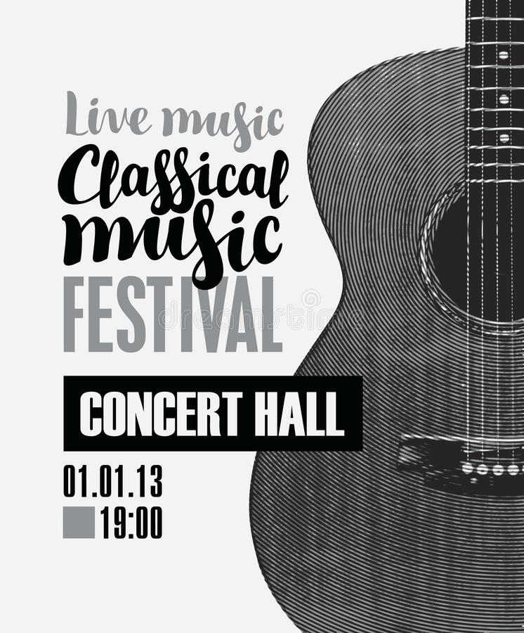 Banner For Festival Classical Music With A Guitar Stock Vector ...