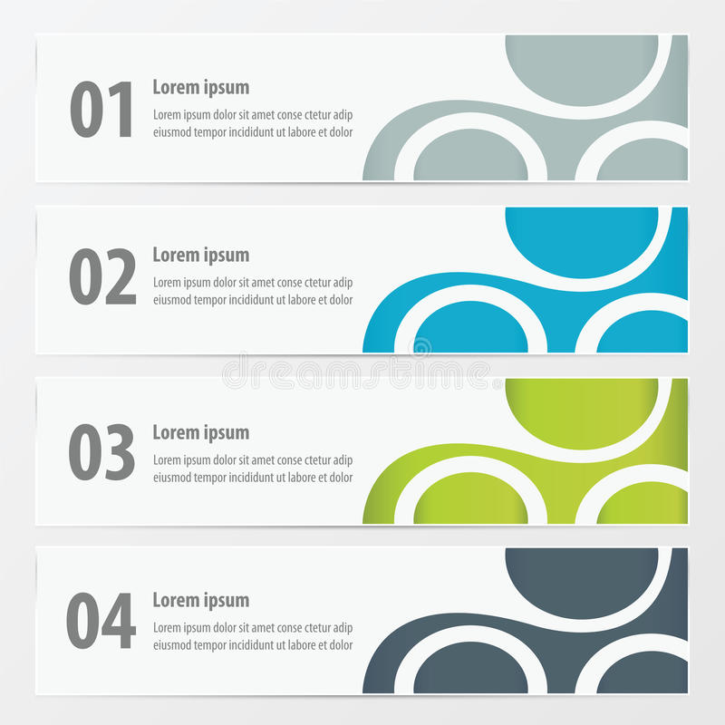 Vector banner Green, blue, gray color vector illustration