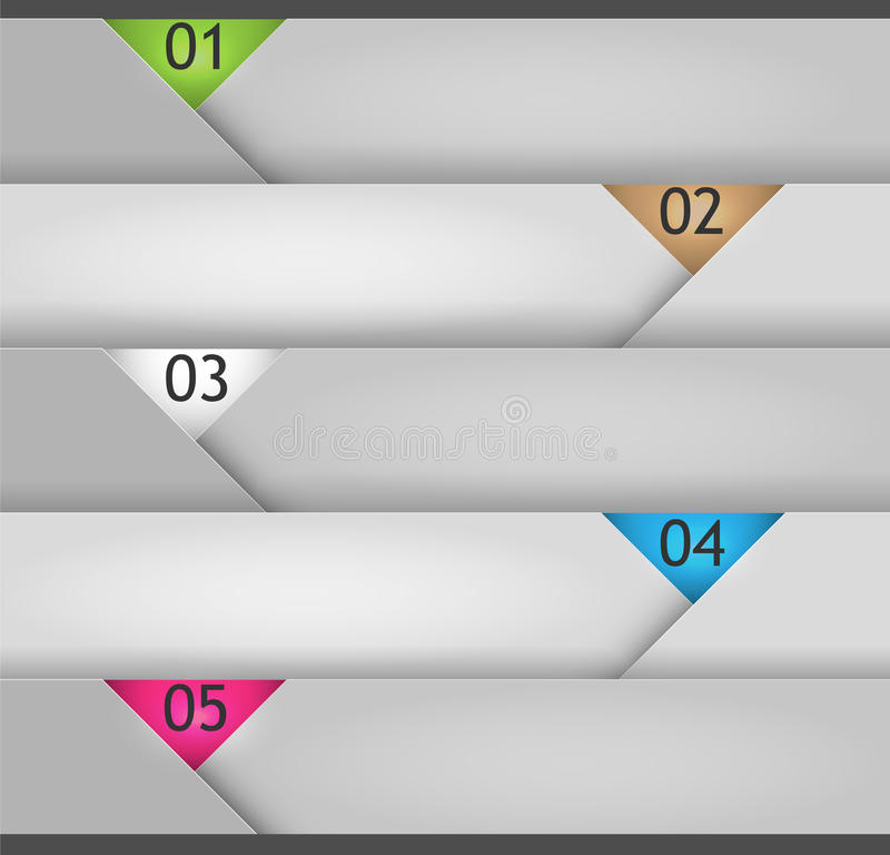 Vector banner paper style for presentations stock illustration