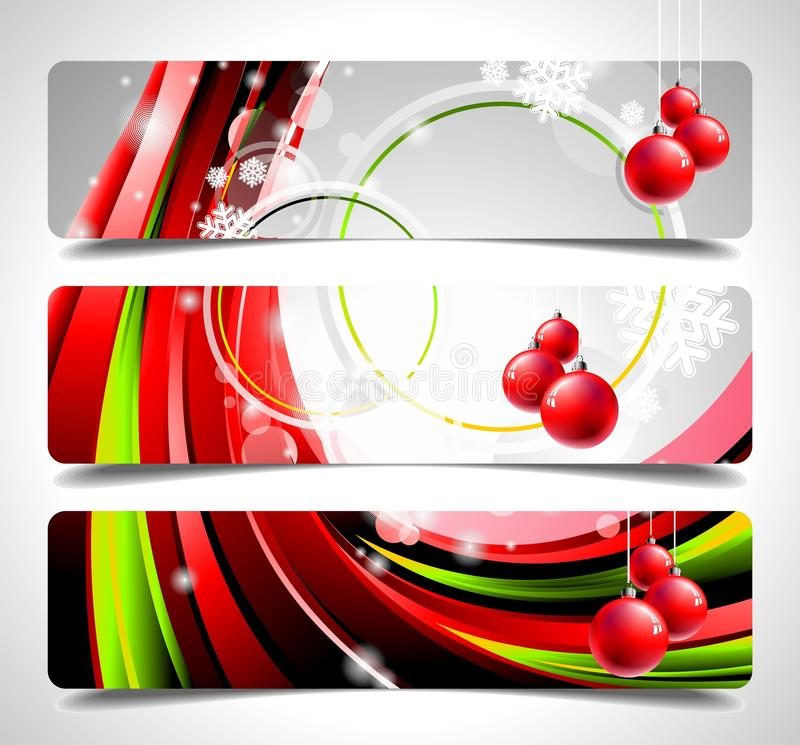 Download Vector Banner Set On A Christmas Theme. Stock Illustration - Image: 20904779