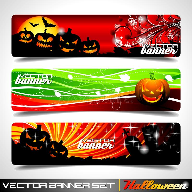 Download Vector Banner Set On A Halloween Theme. Stock Vector - Image: 20703791