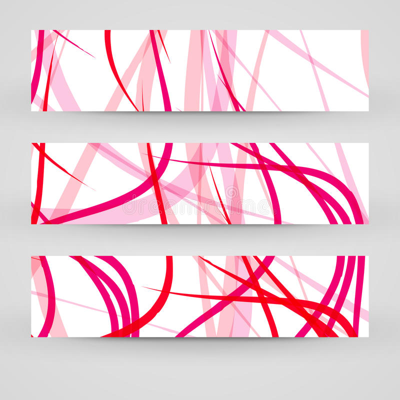 Vector banner set for your design stock photo