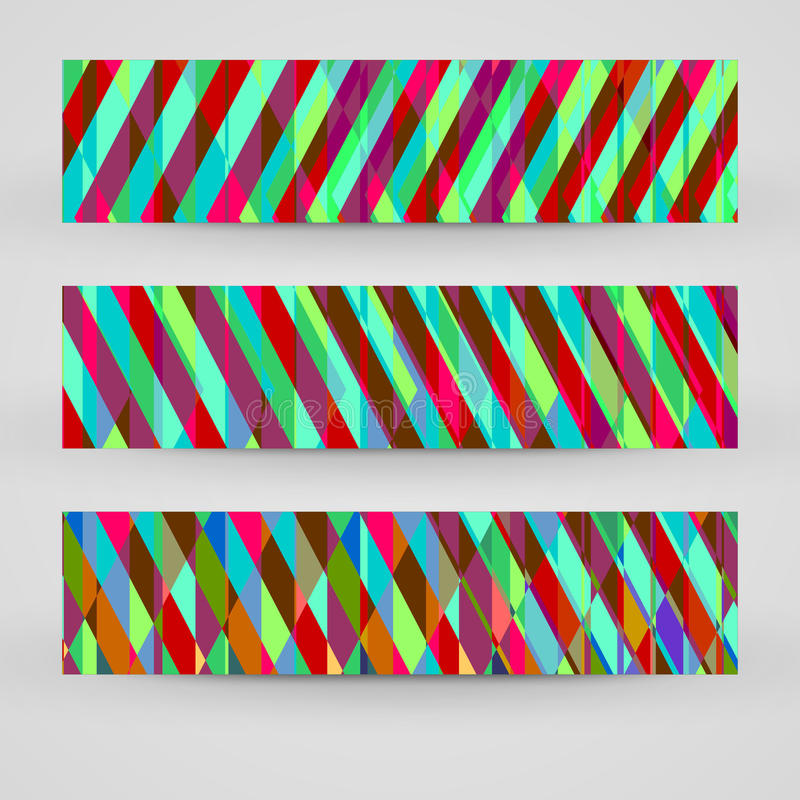 Vector banner set for your design. Abstract Illustration stock illustration