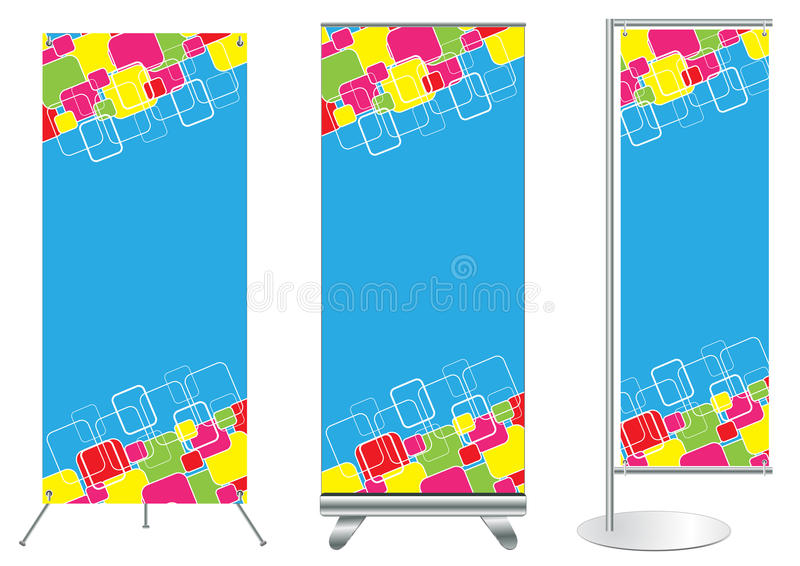 Download Vector Banner Stand Display Stock Vector - Illustration of aluminum, event: 23907760