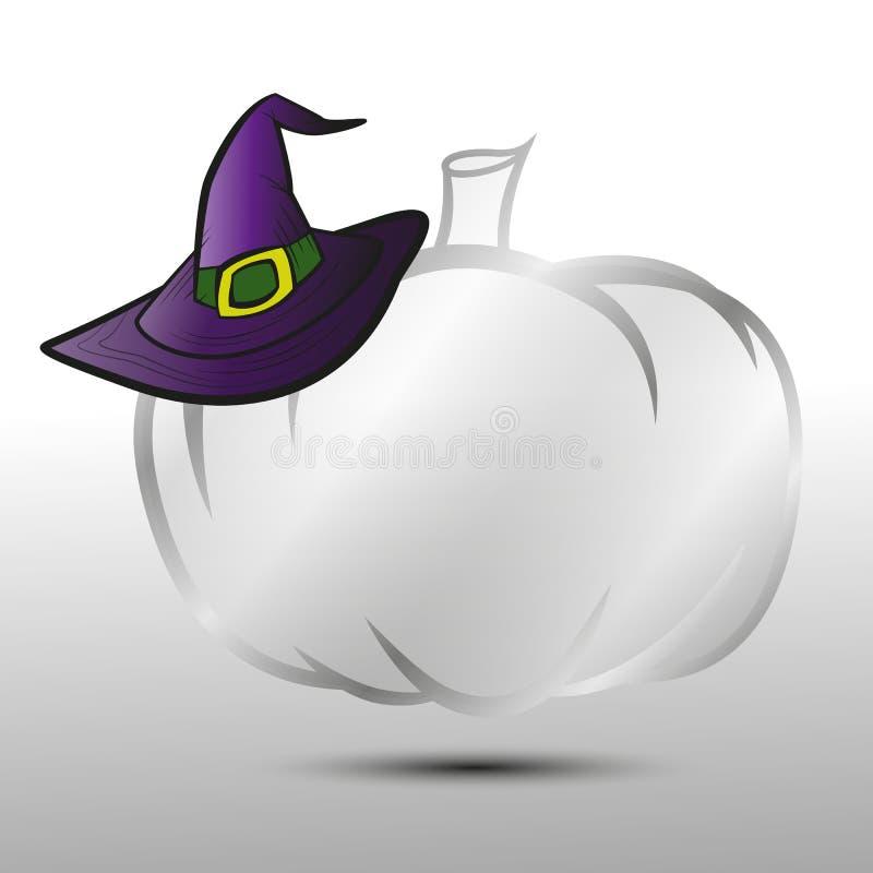 Banner transparent pumpkin hat for Halloween royalty free illustration