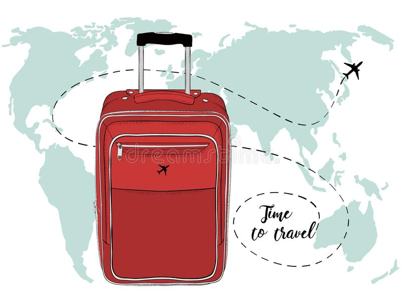 Vector banner with travel bag and world map stock illustration download vector banner with travel bag and world map stock illustration illustration of earth gumiabroncs Image collections
