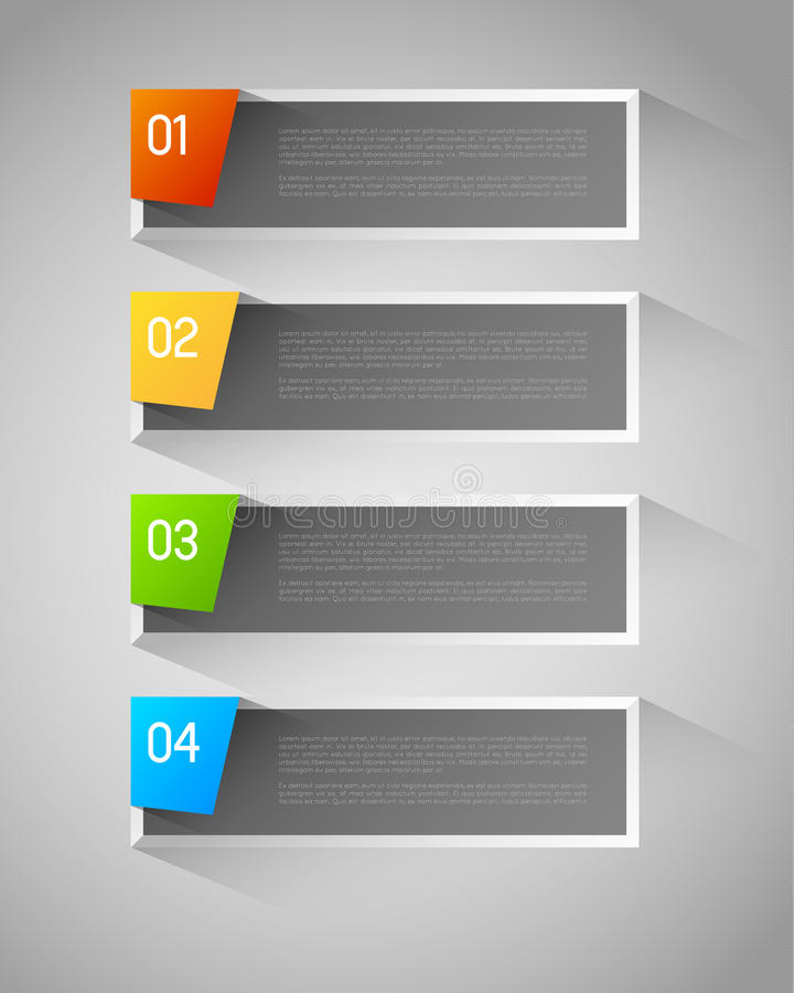 Vector banners royalty free illustration