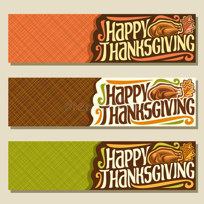 Vector banners for Thanksgiving day vector illustration