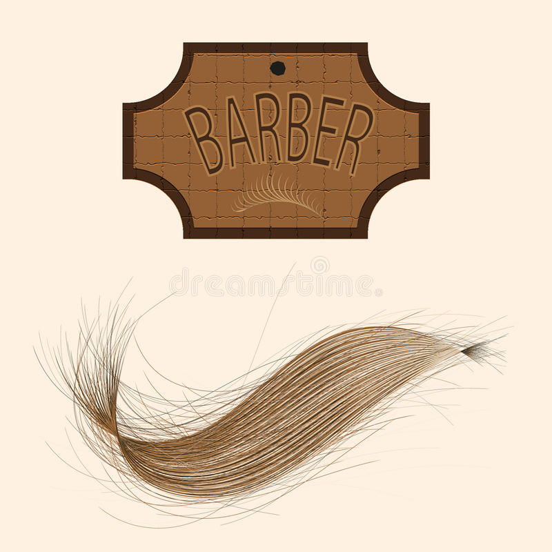 Vector of barber. Vector advertising barbershop on a light background
