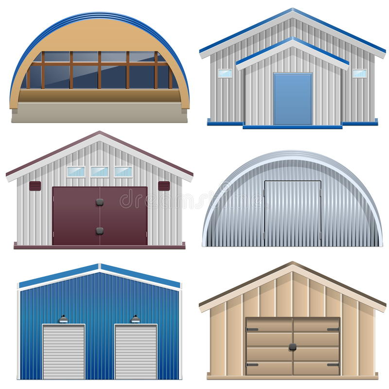 Vector Barns stock illustration