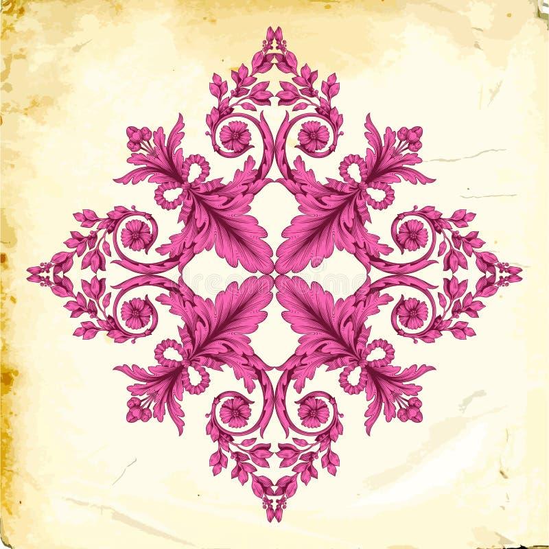 Vector barok van uitstekende elementen voor ontwerp royalty-vrije stock foto
