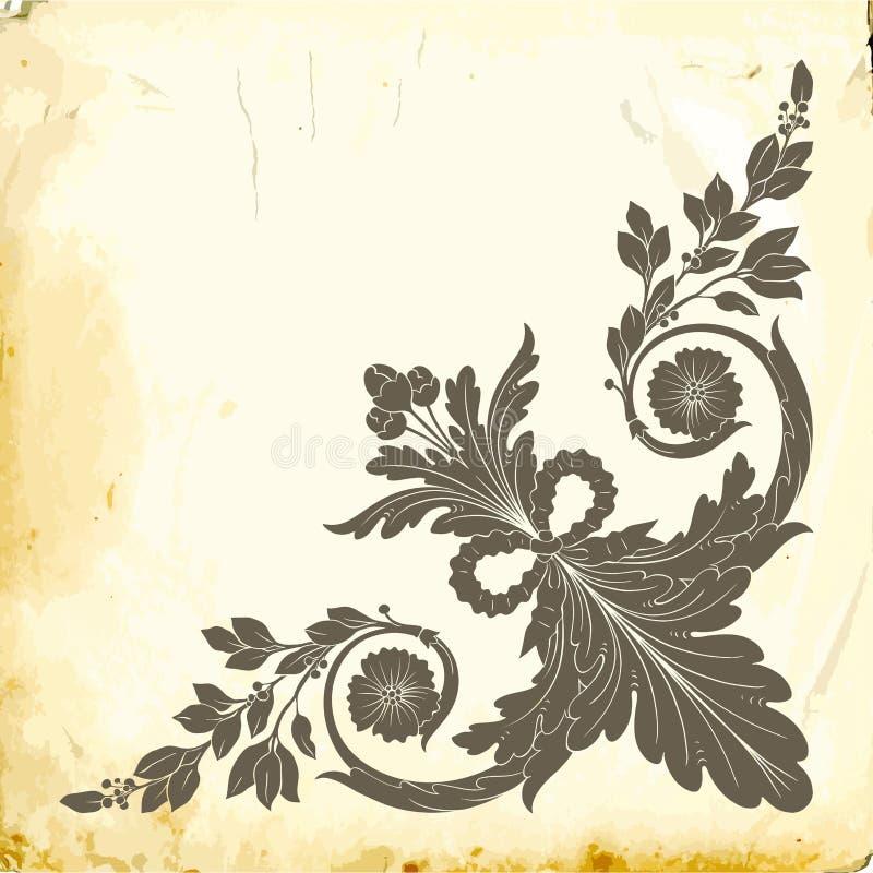 Vector barok van uitstekende elementen voor ontwerp stock afbeelding