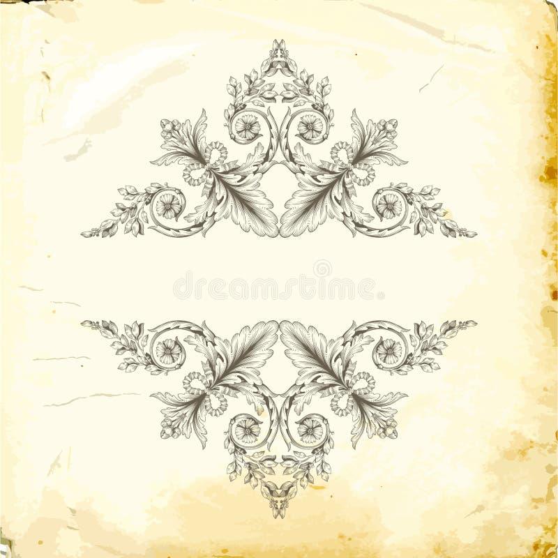 Vector barok van uitstekende elementen voor ontwerp stock fotografie