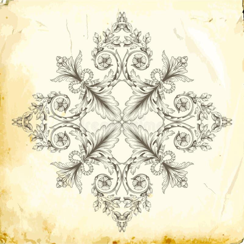 Vector barok van uitstekende elementen voor ontwerp stock foto's