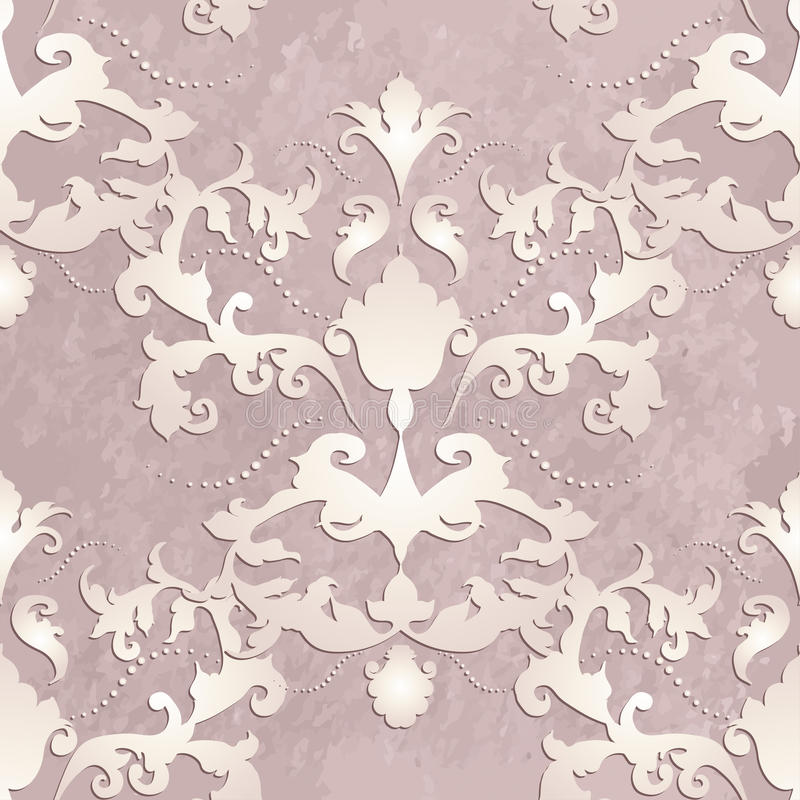 Vector baroque. Vector illustration. luxury texture for wallpapers, fabric patterns Baroque, Damask seamless floral pattern stock illustration