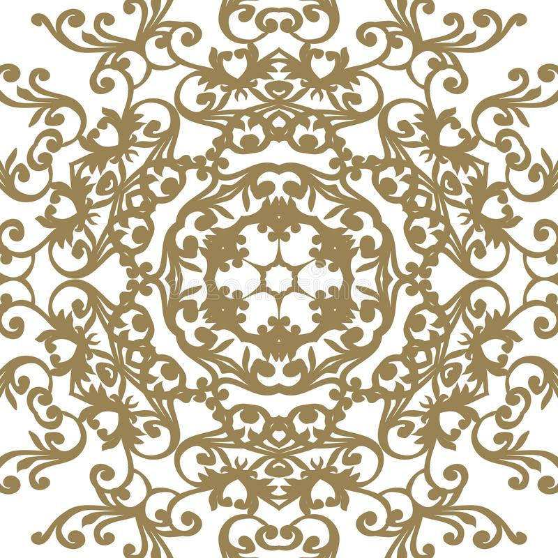 Vector baroque ornament in Victorian style. Ornate element for d royalty free illustration