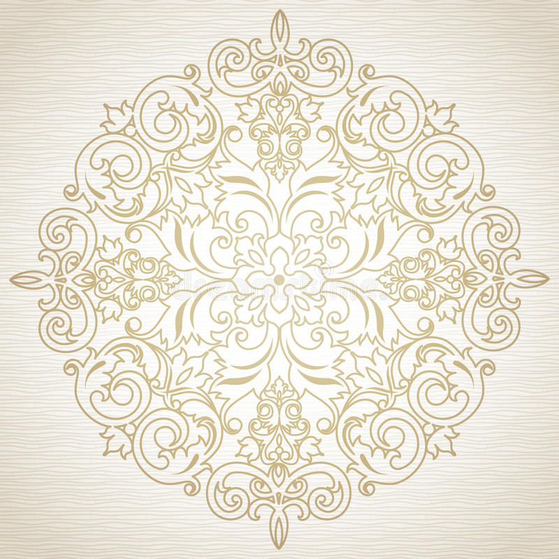 Vector baroque ornament in Victorian style. Ornate element for design. Toolkit for designer. It can be used for decorating of wedding invitations, greeting royalty free illustration