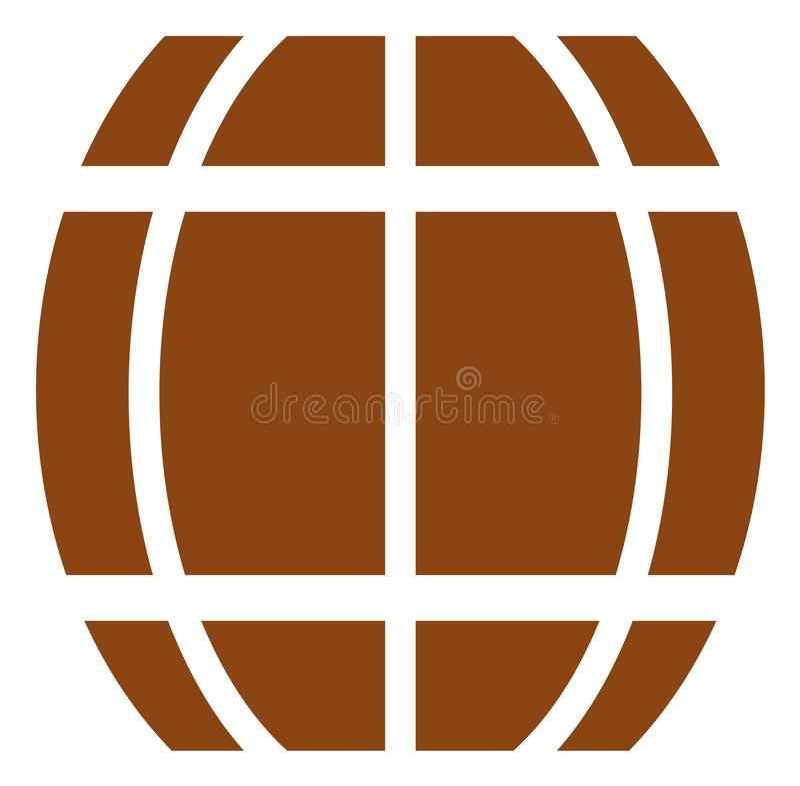 Vector Barrel Icon stock illustration