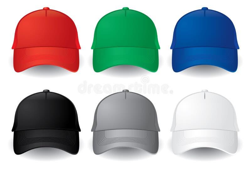 Vector baseball caps royalty free illustration