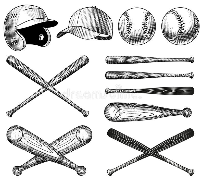 Free Vector Baseball Equipment Illustrations Royalty Free Stock Photo - 62875475