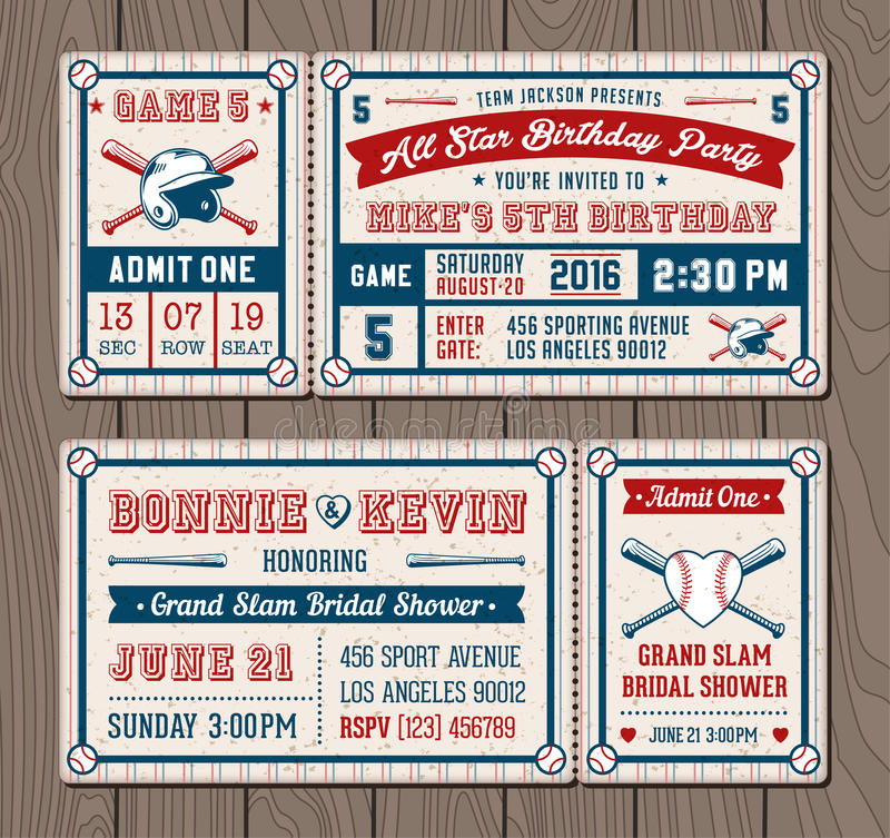 Free Vector Baseball Event Invites Stock Photography - 65707222