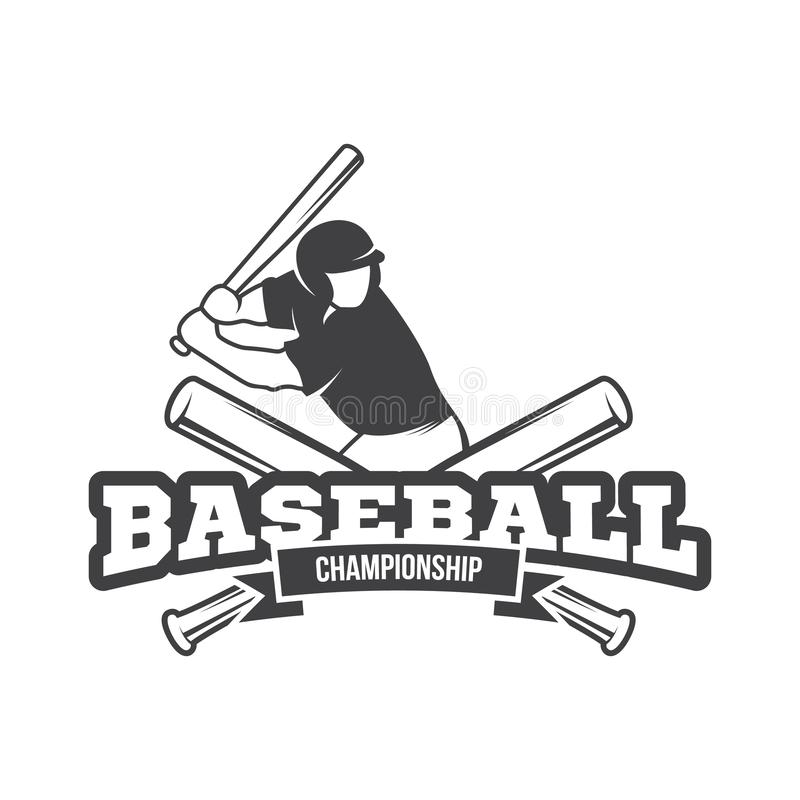 Vector Baseball logo and insignia royalty free stock photos