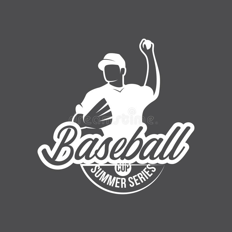 Vector Baseball logo and insignia royalty free stock photography