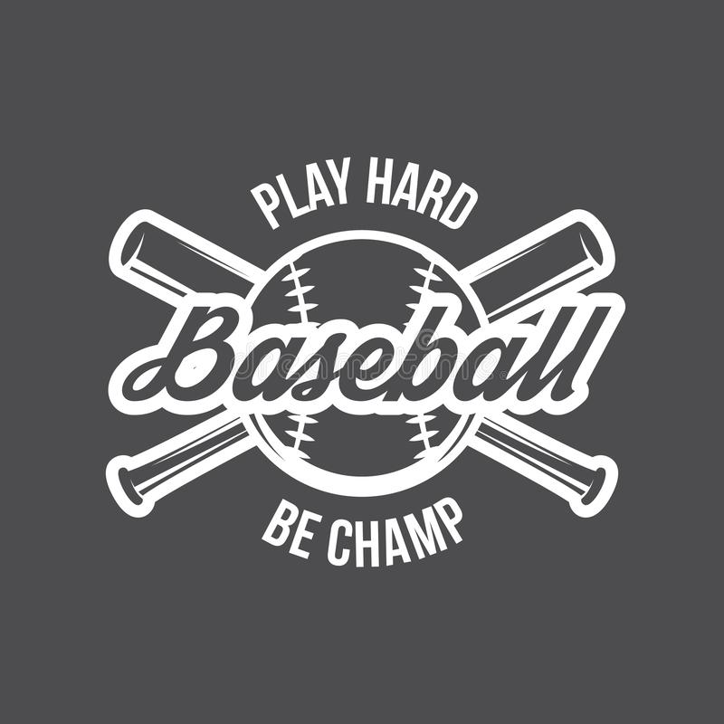Vector Baseball logo and insignia royalty free stock photo