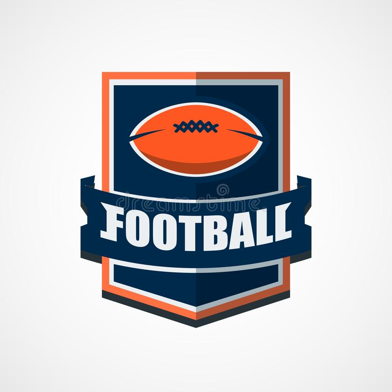 American Football Logo Template. Vector College Logos Illustration. This is Vector based - American Football Logo that can be scale to any size without losing vector illustration