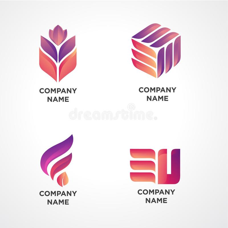 Modern Logo Template for Any Industry stock illustration