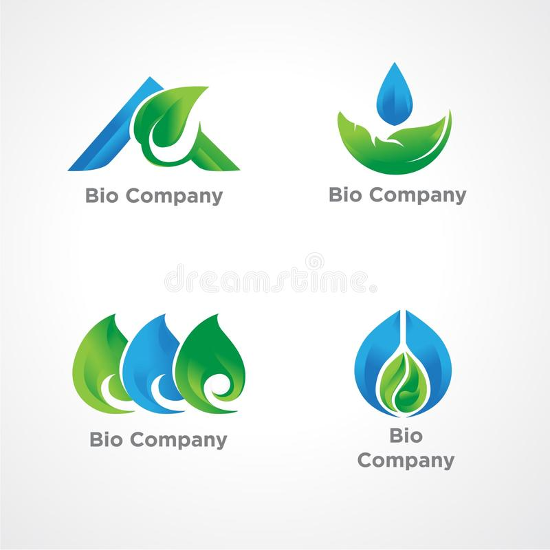 Logo Template for Green Company vector illustration