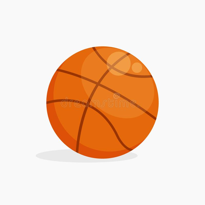 Vector Basket ball isolated on white background with shadow, flat illustration vector illustration