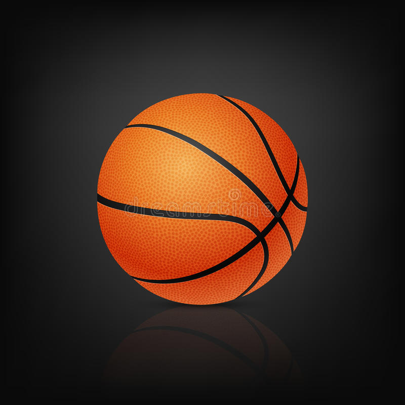 Vector Basketball, On Black Background Stock Vector ...