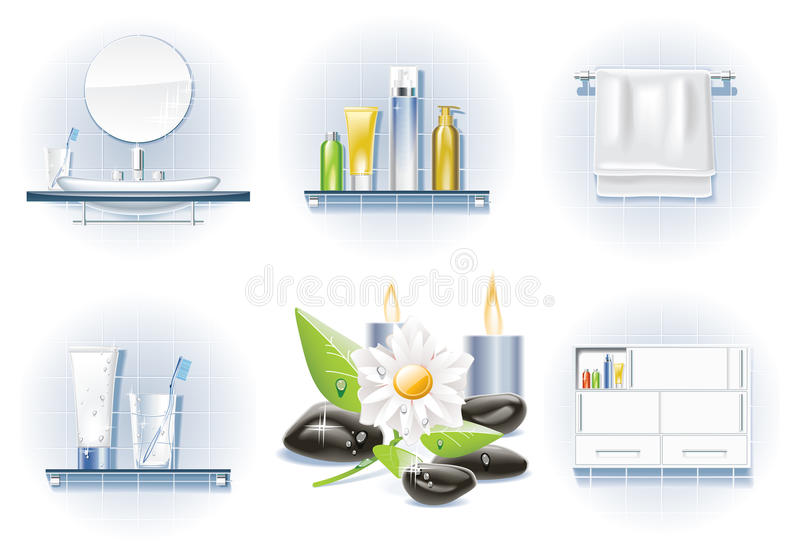 Download Vector bath icon set stock vector. Image of blue, closet - 10627536