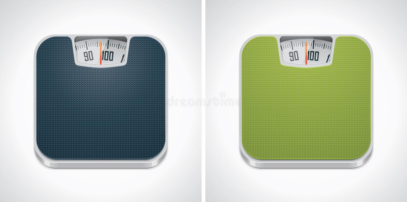 Vector bathroom weight scale icon stock illustration