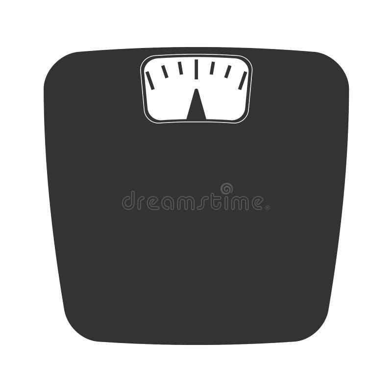 Vector bathroom weight scale icon vector illustration