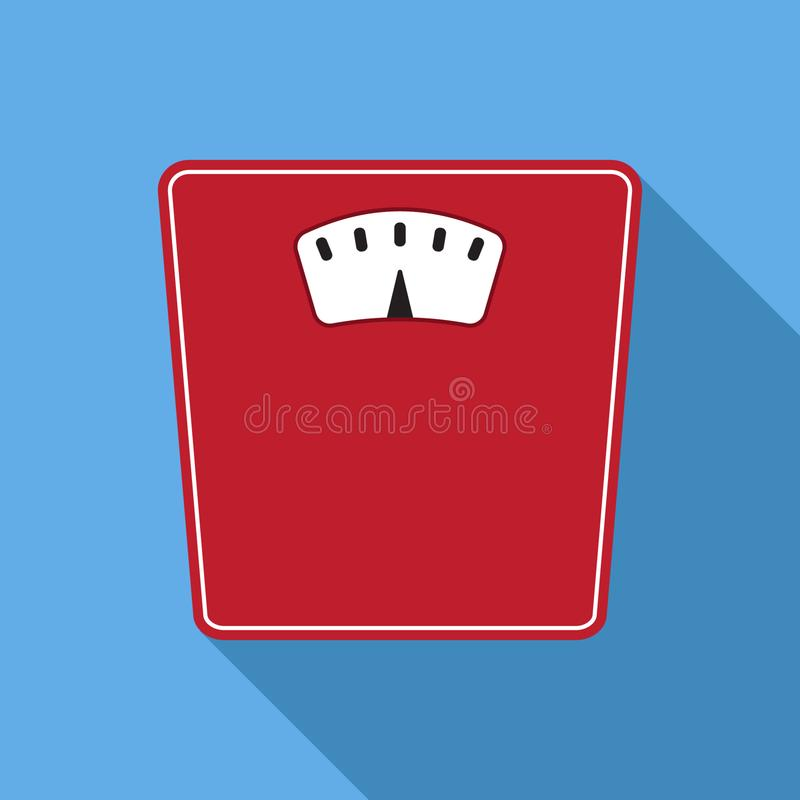 Vector bathroom weight scale icon in flat style royalty free illustration