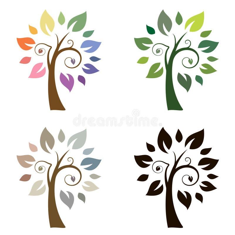 Vector Baum stockbilder