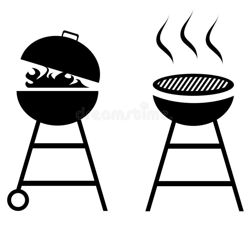 Vector BBQ Grill Isolated on White Background vector illustration