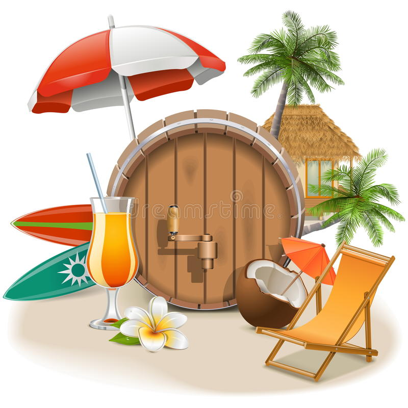 Vector Beach Bar royalty free illustration