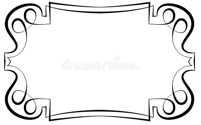 Vector of beautiful elegant framework. For design royalty free illustration